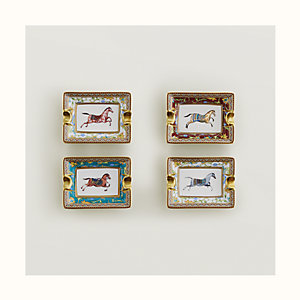Cheval d'Orient set of 4 mini ashtrays