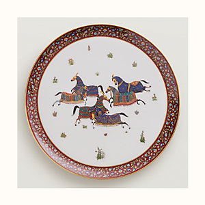 Cheval d'Orient round platter, large model