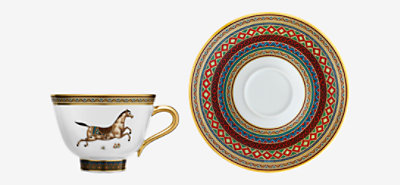 Cheval d'Orient tea cup and saucer -