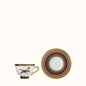 Cheval d'Orient tea cup and saucer