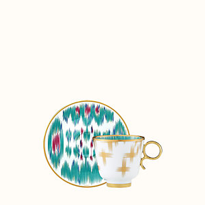 Voyage en Ikat coffee cup and saucer