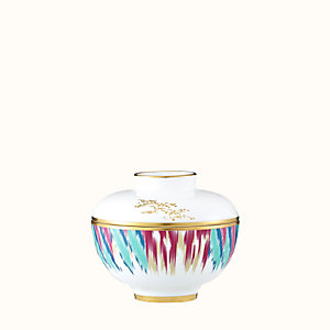 Voyage en Ikat bowl with lid, medium model