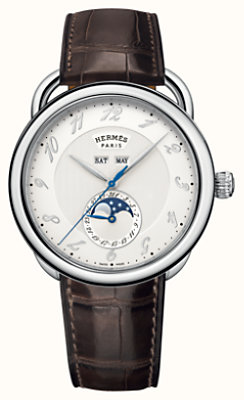 Arceau Grande Lune watch, 43 mm