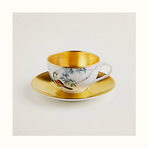 Carnets d'Equateur gold tea cup and saucer