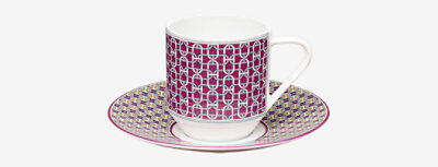 Tie Set coffee cup and saucer -