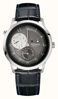 Slim d'Hermes GMT watch, 39.5 mm