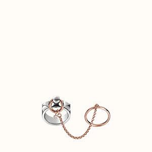 Collier de Chien double ring, medium model