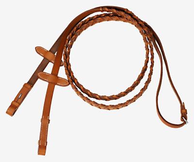 Pair of braided reins -