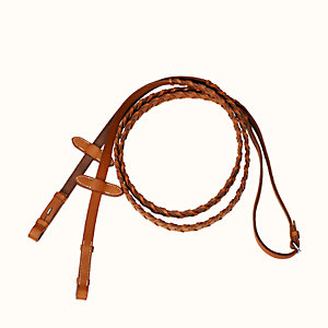Pair of braided reins