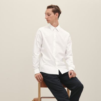 Fitted shirt with Faubourg collar
