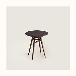 "Les Necessaires d'Hermes ""table a cachette"" stool-table, small model"