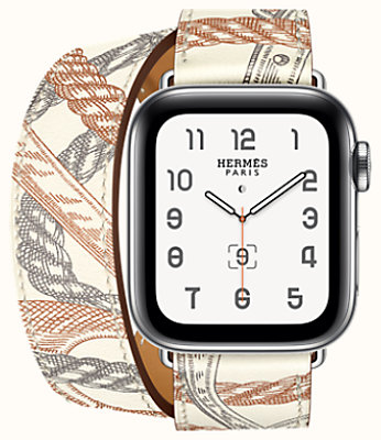 Series 5 case & Band Apple Watch Hermes Double Tour 40 mm