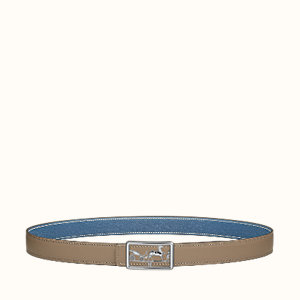 Caleche belt buckle & Reversible leather strap 24 mm