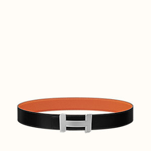 H Optique belt buckle & Reversible leather strap 38 mm