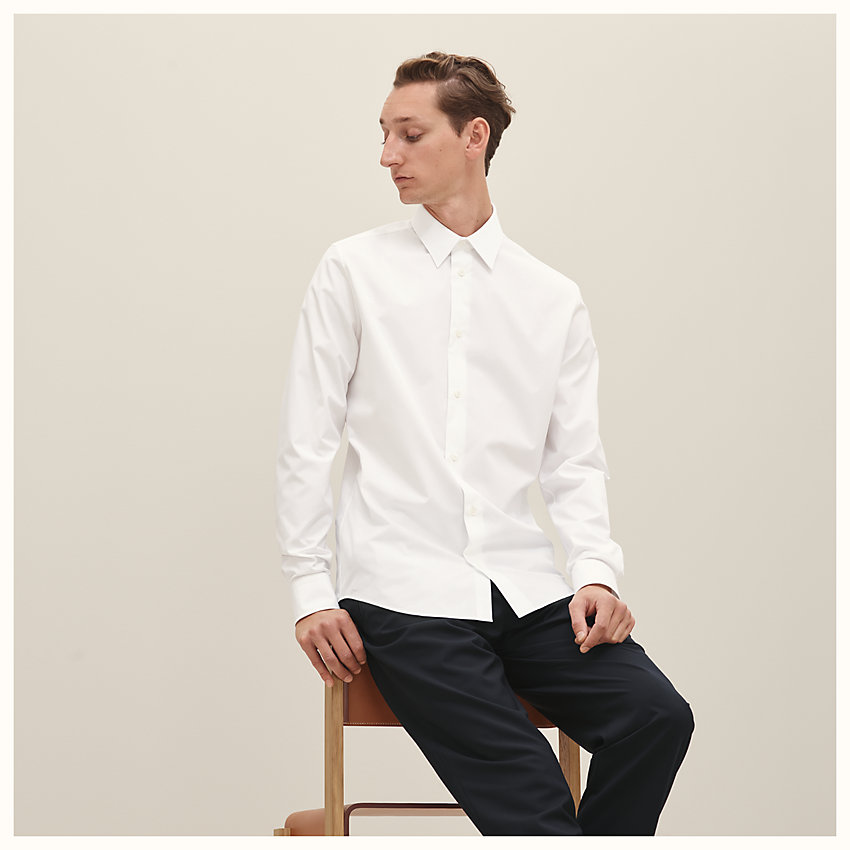 zoom image, Fitted shirt with Faubourg collar