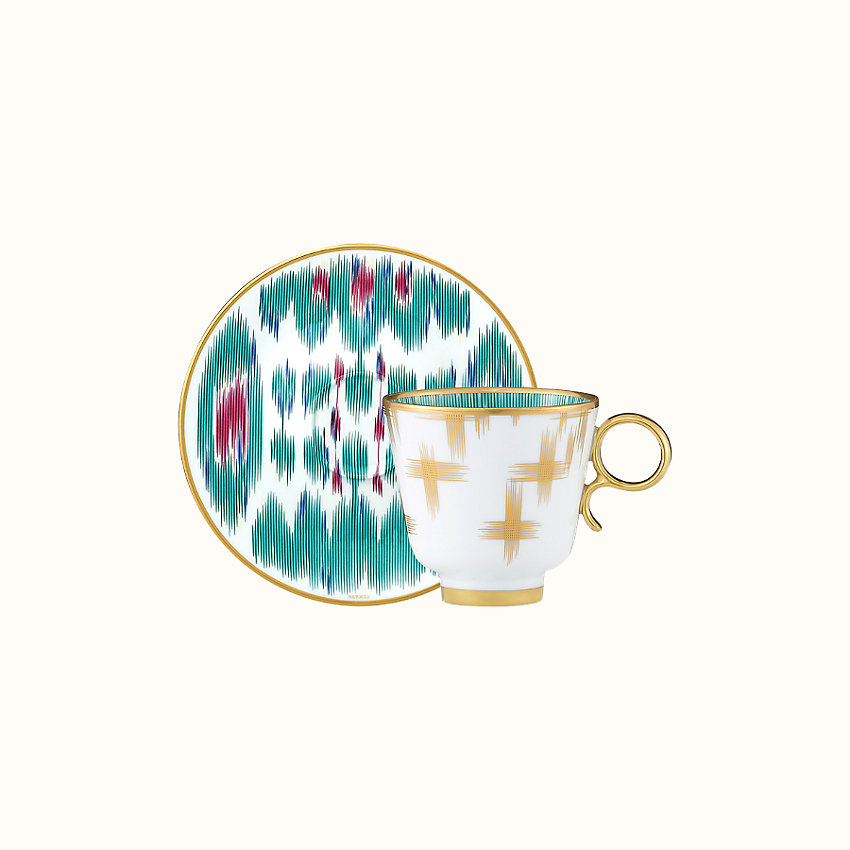 zoom image, Voyage en Ikat coffee cup and saucer